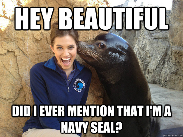 Hey beautiful Did I ever mention that I'm a navy seal? - Hey beautiful Did I ever mention that I'm a navy seal?  Crazy Secret
