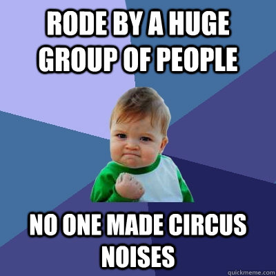 Rode by a huge group of people No one made circus noises - Rode by a huge group of people No one made circus noises  Success Kid