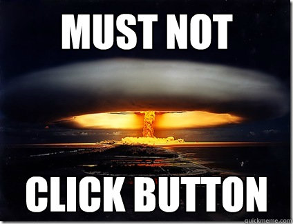 must not click button