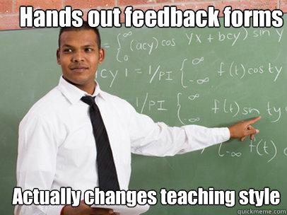 Homework teacher feedback