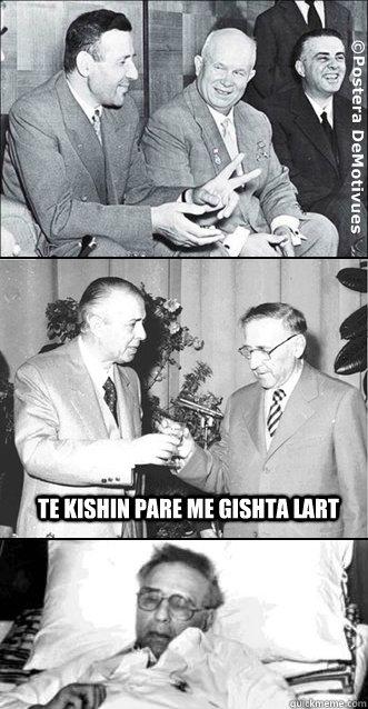 te kishin pare me gishta lart  Enver Hoxha