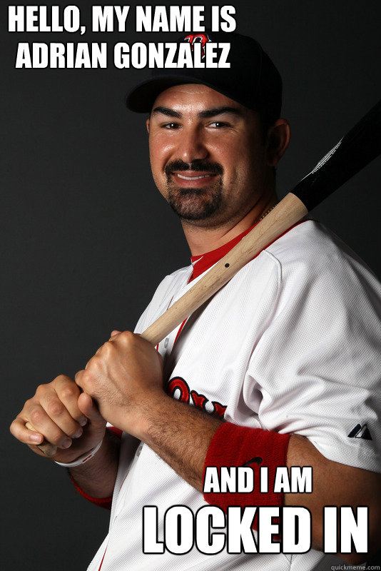 hello, my name is adrian gonzalez AND I am locked in - hello, my name is adrian gonzalez AND I am locked in  Misc