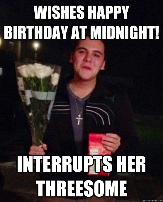 Wishes Happy Birthday At Midnight Interrupts Her Threesome