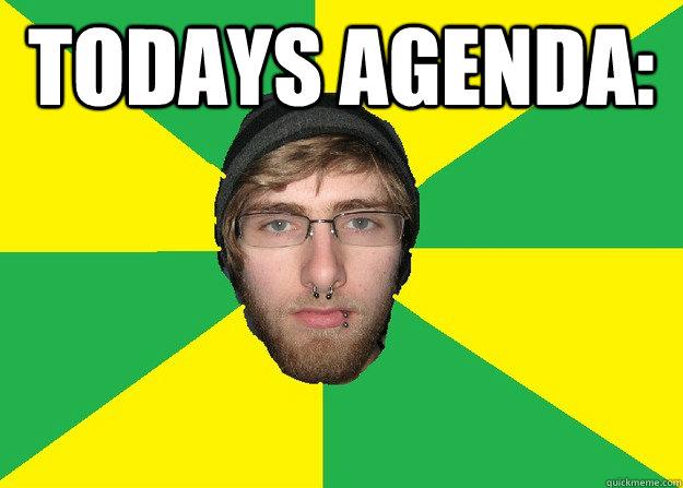 Todays Agenda:  Caption 3 goes here - Todays Agenda:  Caption 3 goes here  Aussie Dole Bludger