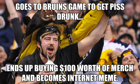 140a33d49c145d575e4f127a8bc520bfffdcda802d91abc8a69799202c1356fe goes to bruins game to get piss drunk ends up buying $100 worth