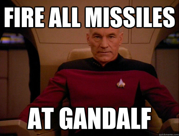 Fire all missiles at Gandalf - Fire all missiles at Gandalf  Misc