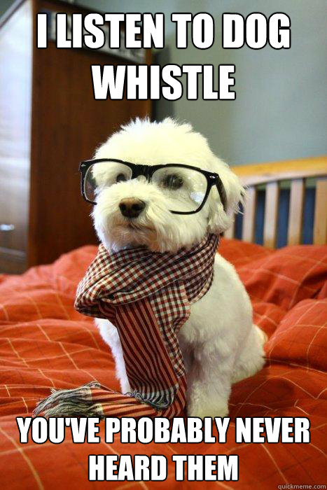 I listen to Dog Whistle You've probably never heard them - I listen to Dog Whistle You've probably never heard them  Hipster Dog