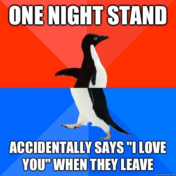 One night stand Accidentally says