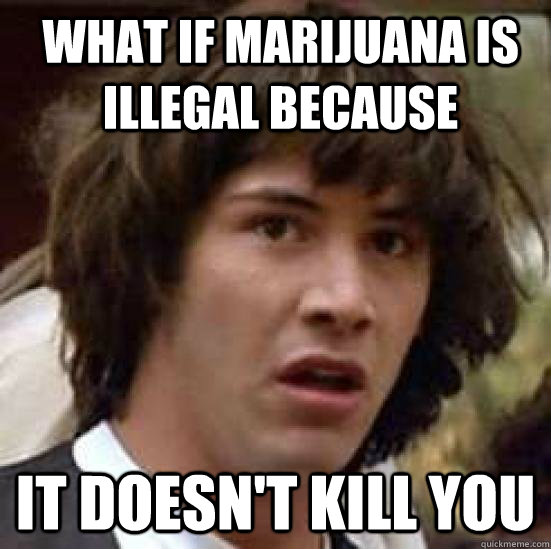 What if marijuana is illegal because it doesn't kill you