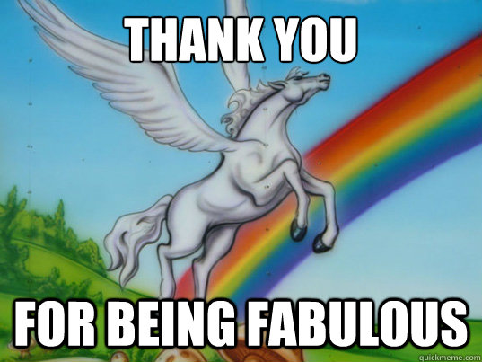Thank you For being fabulous - Thank you For being fabulous  Rainbow unicorn