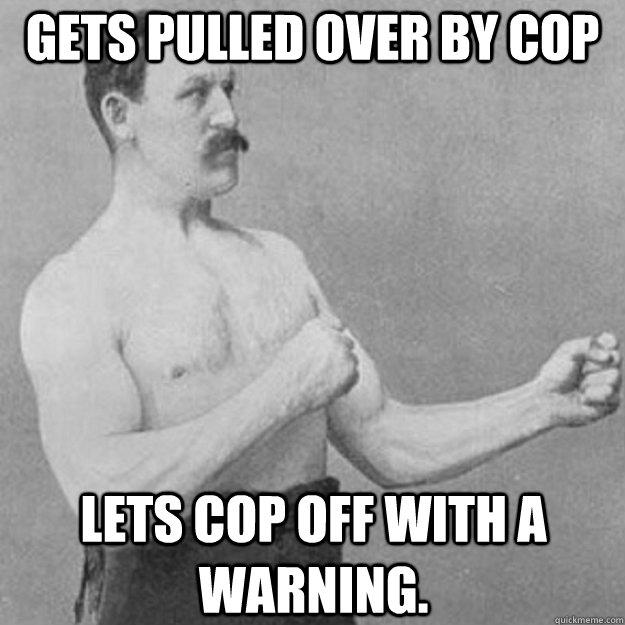 Gets pulled over by cop Lets cop off with a warning. - Gets pulled over by cop Lets cop off with a warning.  Misc