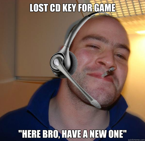 Lost CD key for game