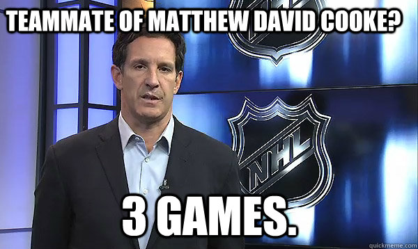 Teammate of Matthew David Cooke? 3 games.