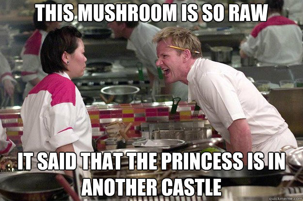This mushroom is so raw it said that the princess is in another castle - This mushroom is so raw it said that the princess is in another castle  Misc