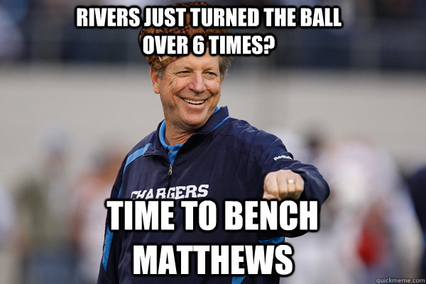 Rivers just turned the ball over 6 times? Time to bench Matthews