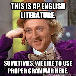 Who took the AP Engligsh Literature exam??
