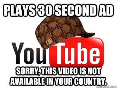 Plays 30 second ad Sorry, this video is not available in your country.