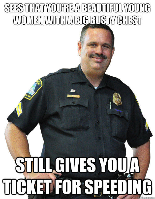 Busty cops on demand