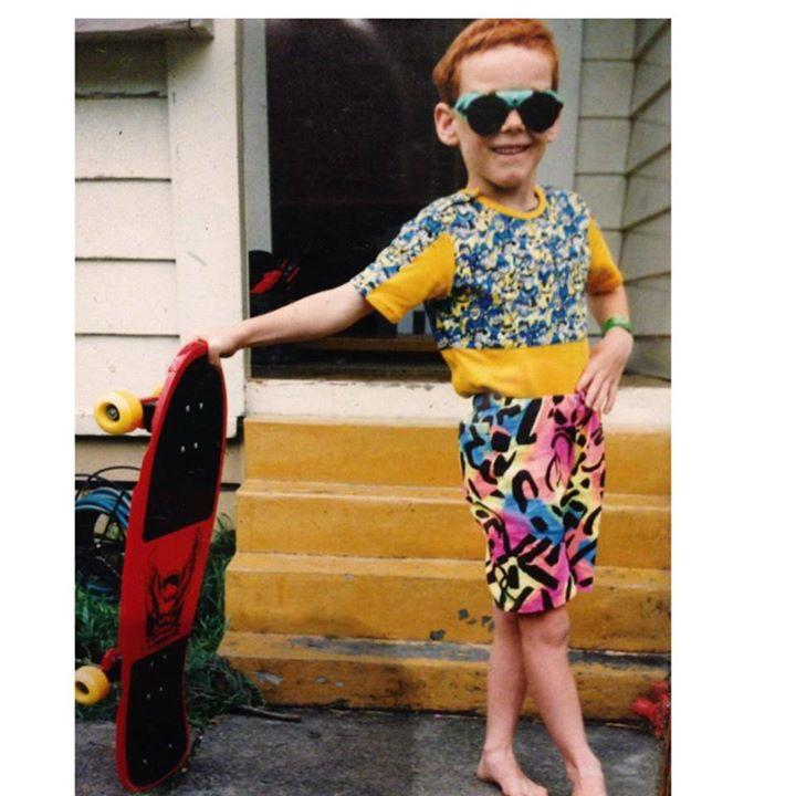 Mom sent me this pic this morning. I think my coolness peaked at age 4. -   Misc