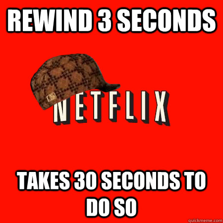 rewind 3 seconds takes 30 seconds to do so