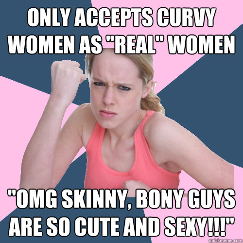 Only accepts curvy women as