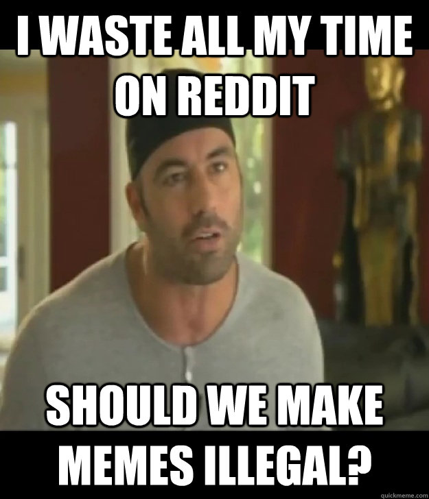 I waste all my time on Reddit should we make memes illegal?