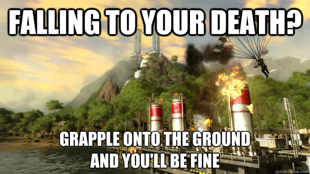 FALLING TO YOUR DEATH? GRAPPLE ONTO THE GROUND AND YOU'LL BE FINE