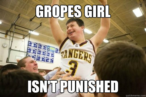 Gropes girl isn't punished