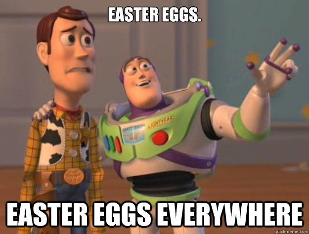 Easter Eggs. Easter Eggs Everywhere  Buzz Lightyear