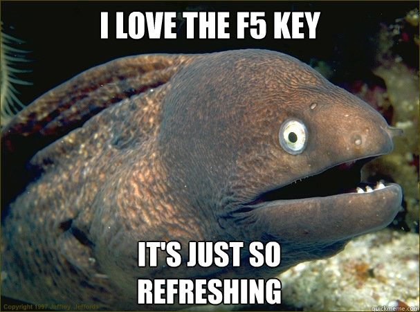 I love the F5 key It's Just so  refreshing - I love the F5 key It's Just so  refreshing  Bad Joke Eel