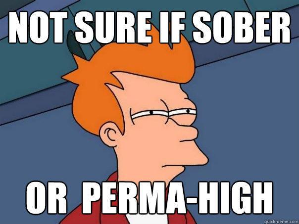 Not sure if sober or  perma-high - Not sure if sober or  perma-high  Futurama Fry