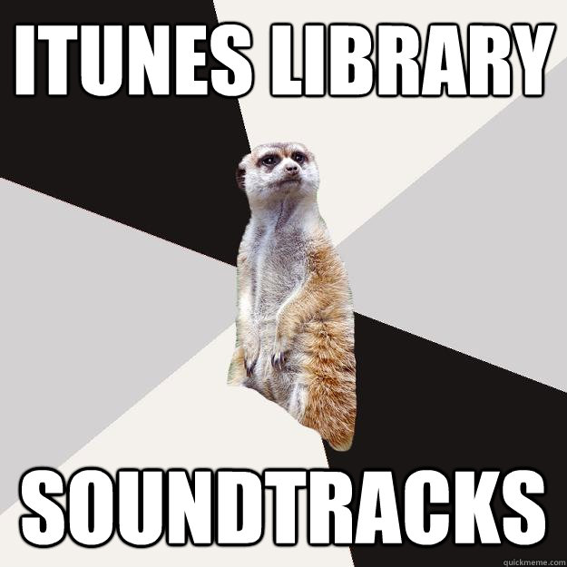 itunes library soundtracks