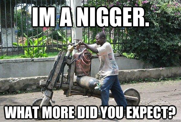 im a nigger. what more did you expect?