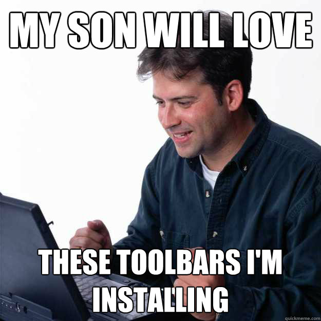 my son will love these toolbars i'm installing