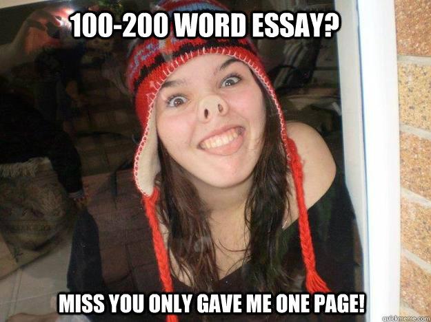 200 word essay meme