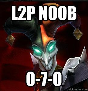 L2p Noob 0-7-0  League of Legends