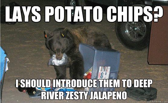lays potato chips? i should introduce them to deep river zesty jalapeno