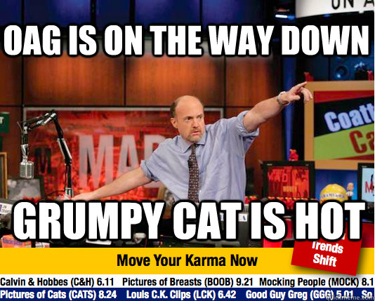 OAG is on the way down Grumpy cat is hot - OAG is on the way down Grumpy cat is hot  Mad Karma with Jim Cramer