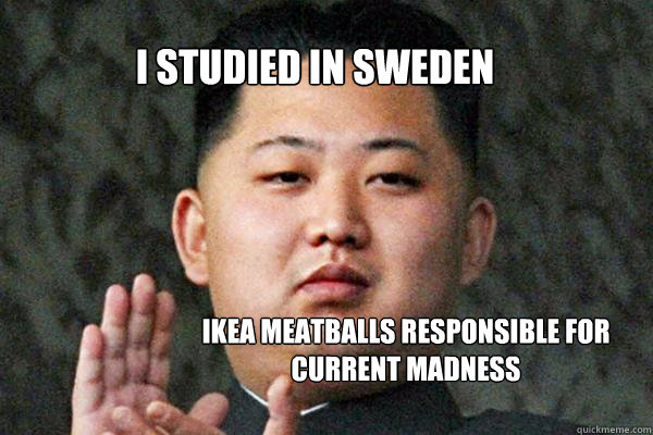 i studied in sweden ikea meatballs responsible for current madness  North Korea