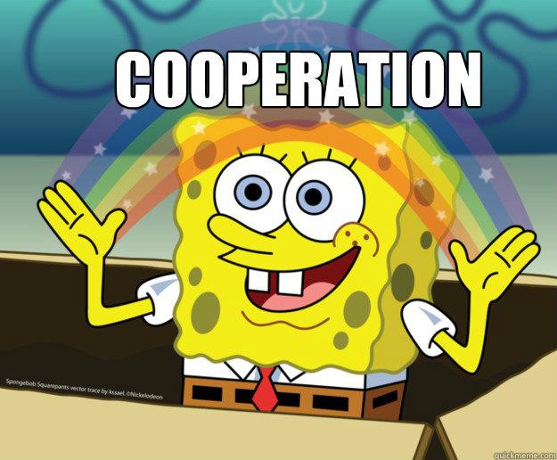 COOPERATION - COOPERATION  Spongebob Imagination