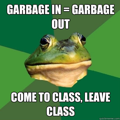 reaction in garbage