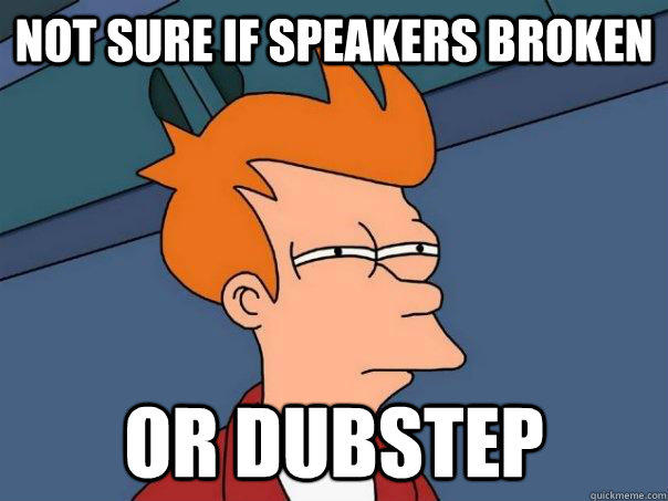 Not sure if speakers broken Or dubstep - Not sure if speakers broken Or dubstep  Futurama Fry