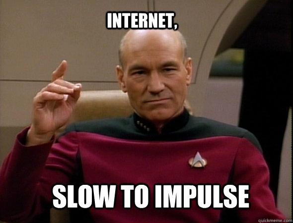 Internet, Slow to impulse