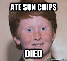 Ate Sun Chips Died