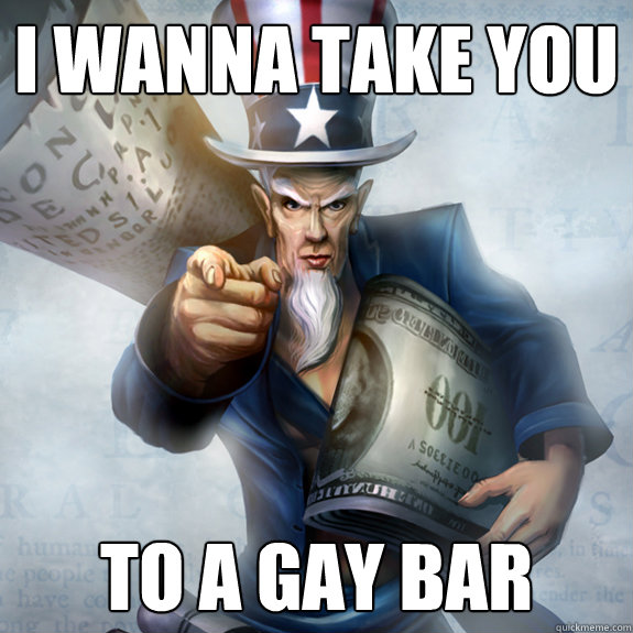 from Nixon describe gay bar