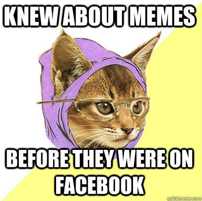 knew about memes before they were on facebook  Hipster Kitty
