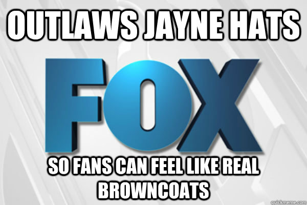 Outlaws Jayne hats so fans can feel like real browncoats - Outlaws Jayne hats so fans can feel like real browncoats  Good Guy Fox