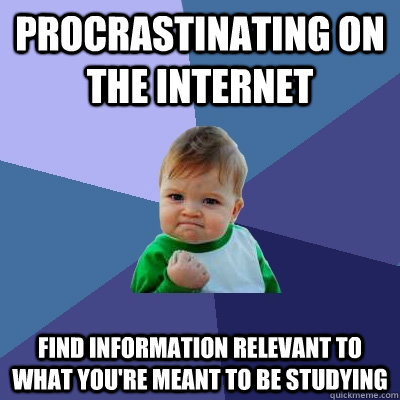 Procrastinating on the internet find information relevant to what you're meant to be studying - Procrastinating on the internet find information relevant to what you're meant to be studying  Success Kid