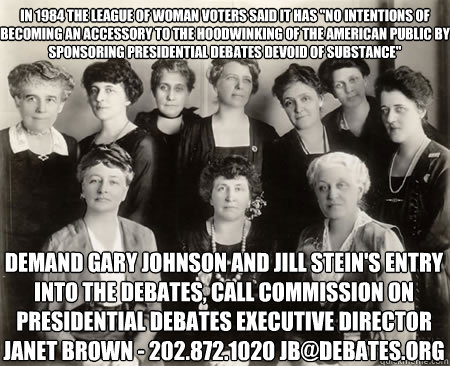 In 1984 the league of woman voters said it has