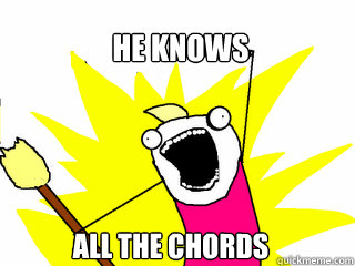 he knows all the chords - he knows all the chords  All The Things